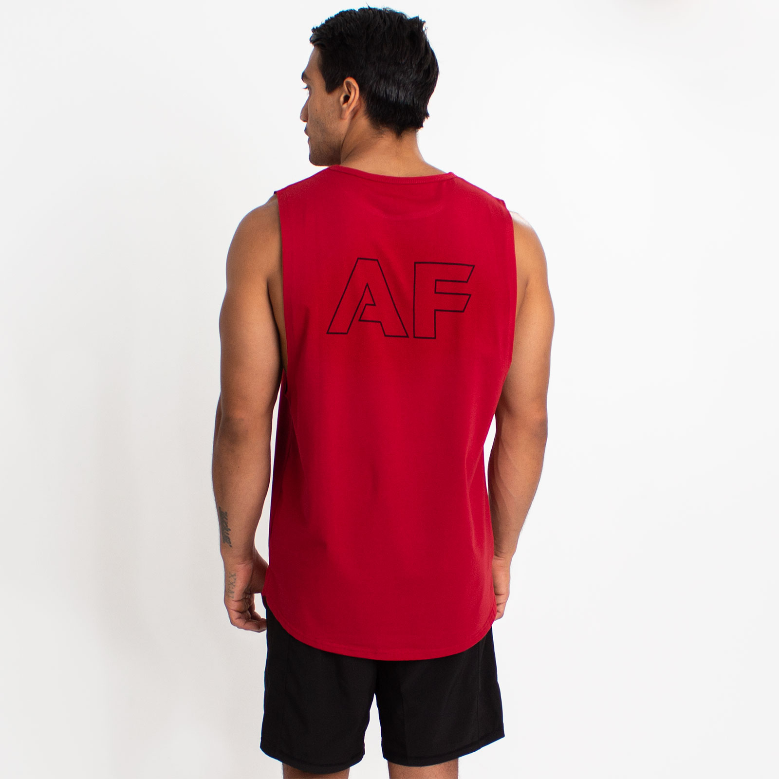 Initial Muscle Tank Maroon image