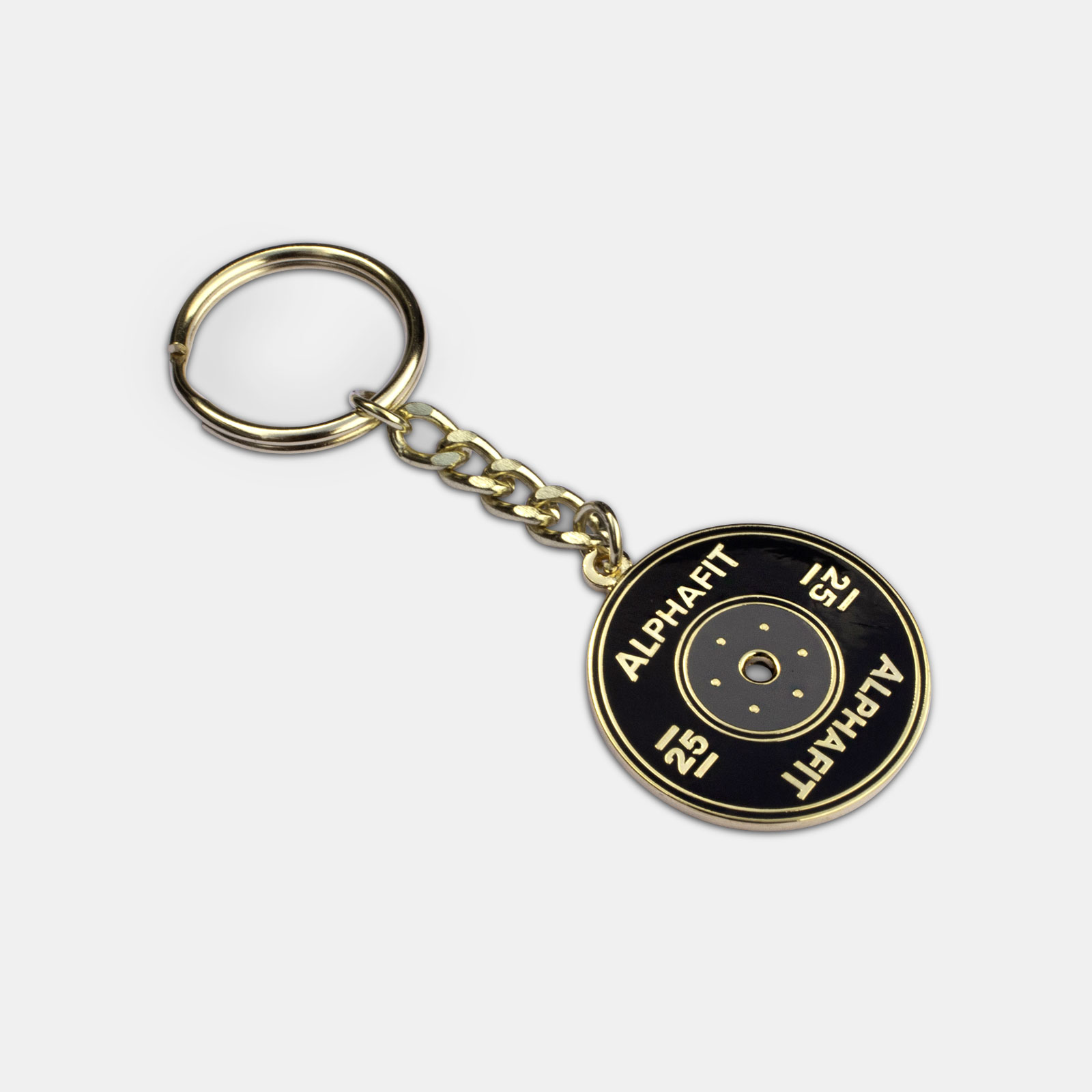 Competition Bumper Keyring - Black/Gold image
