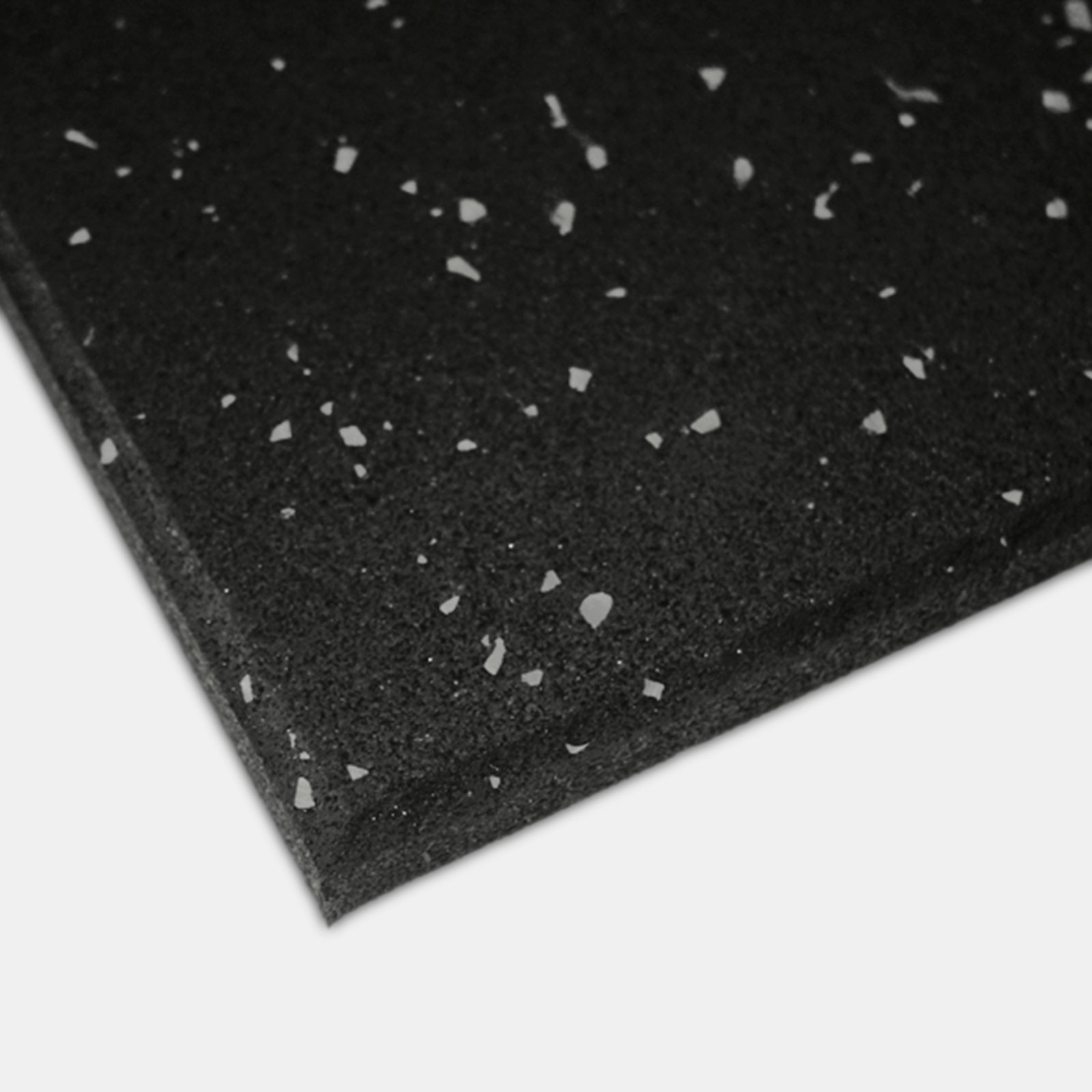 Impact Rubber Tile 15mm - Black with Grey Fleck image