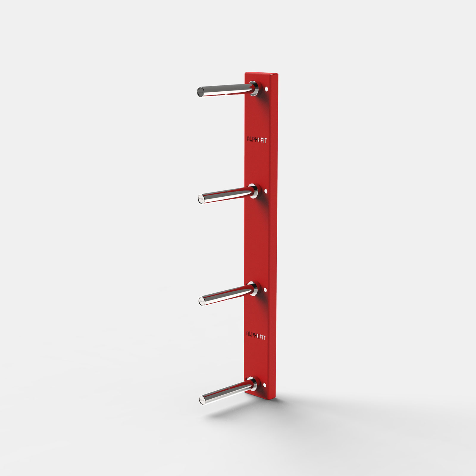 Clearance Wall Mounted 4 Pin Plate Storage - Red image
