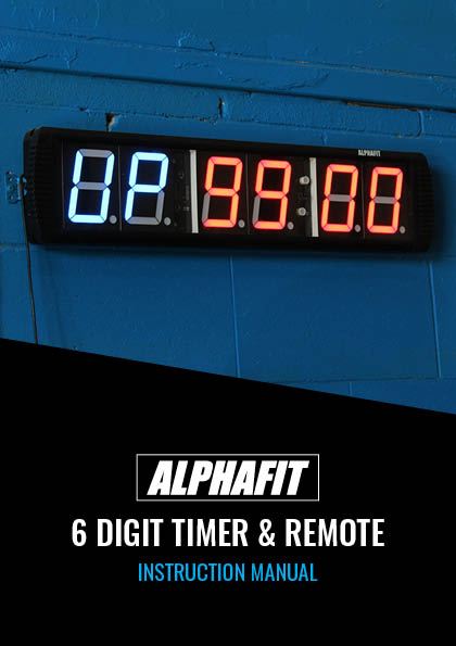 AlphaFit 6 Digit Gym Timer Instructions