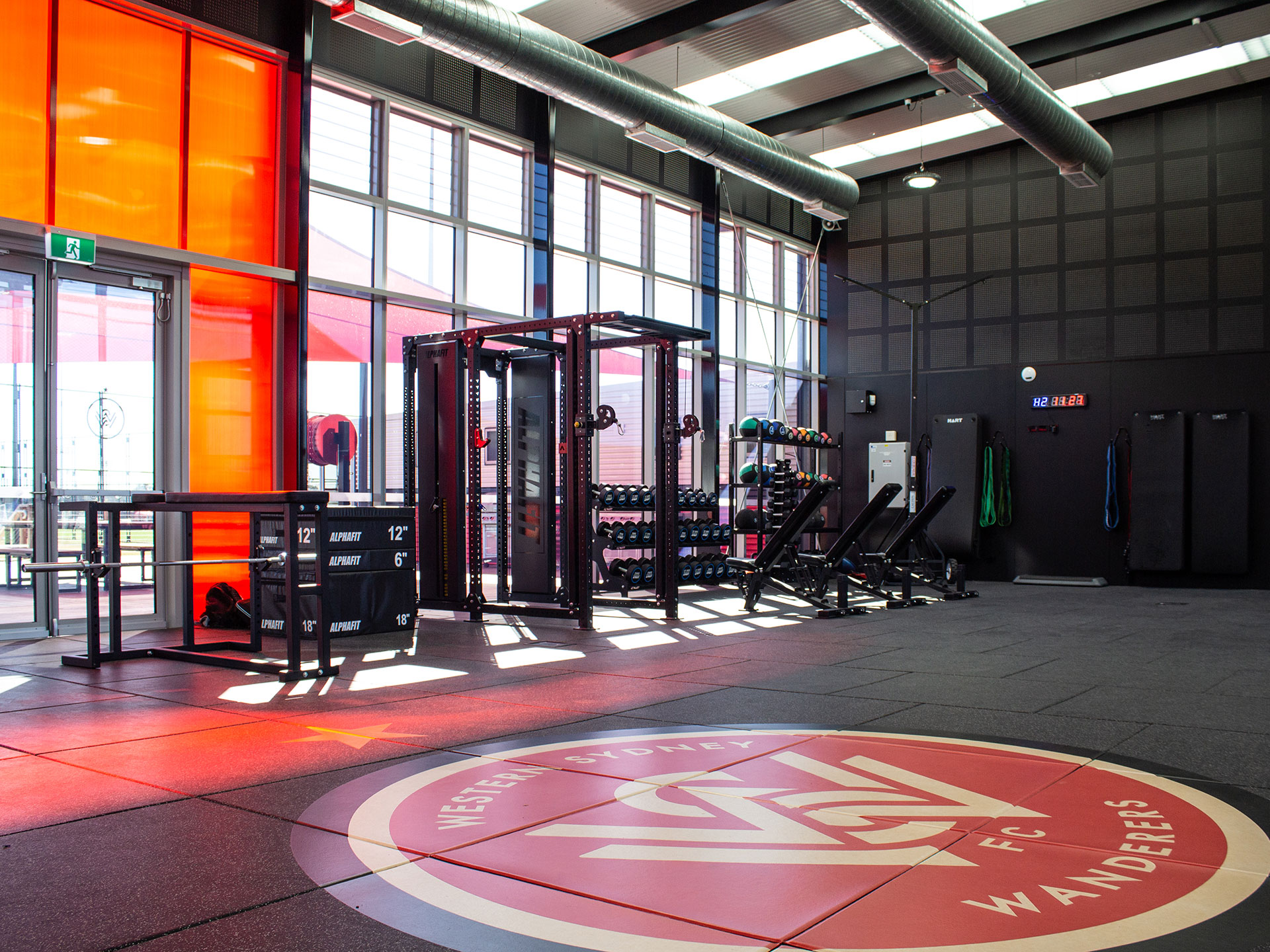 Western Sydney Wanderers Elite Sports Club Gym Fitout