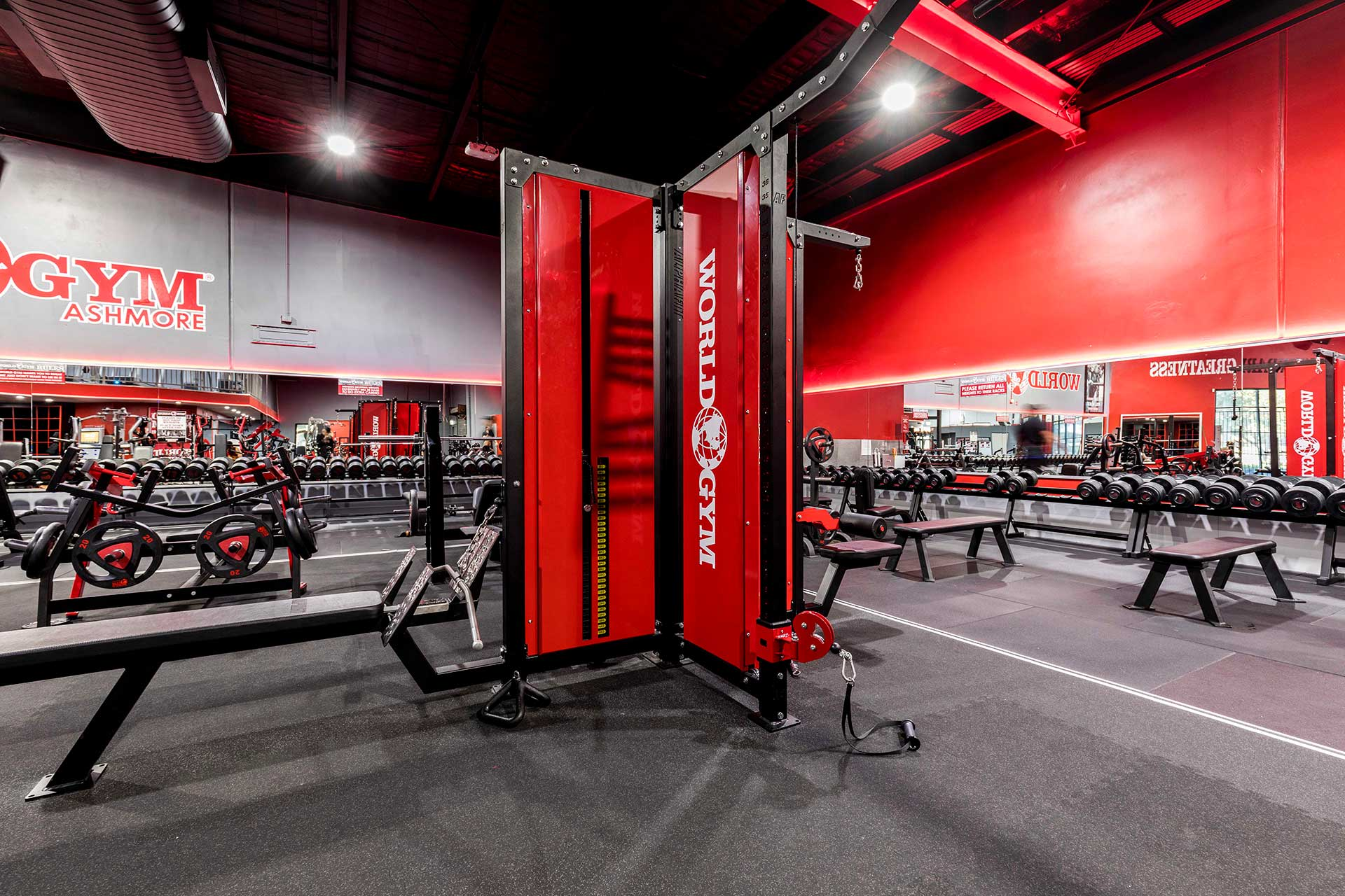 World Gym Ashmore Commercial Gym Fitout